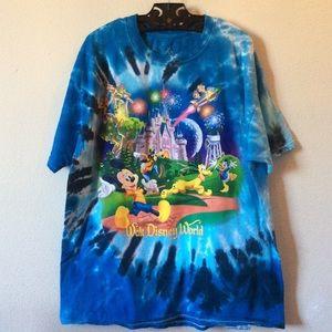 Disney Vintage Tye Dye Mickey Characters Tee